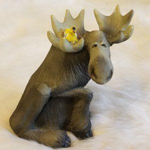 Singing Tree Moose & Bird Figurine '98 New
